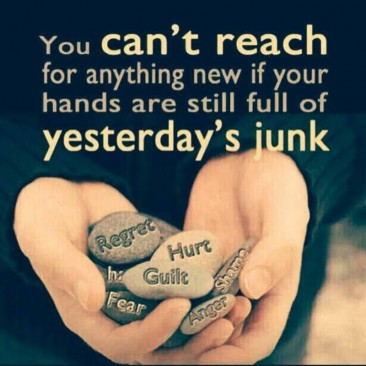 Let go of the junk...